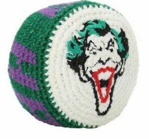 The Joker Batman Hacky Sack Kick Bag Super Hero Embroidered Guatemala Knit Retro