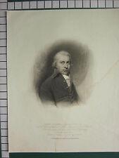 1813 LARGE ANTIQUE PRINT ~ JOHN GILLIES ~ EVANS PICART