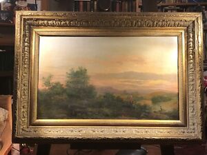 Antique Scottish Landscape Oil painting. Signed & Dated. Edinburgh Artist.