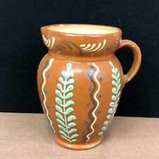 Vintage Hand Painted Pottery Pitcher 5 1/2