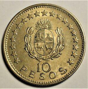 Uruguay - 10 Pesos 1965 -Alu-Bronze- Präsident Artigas - vz / xf