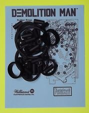 1994 Williams Demolition Man pinball rubber ring kit DM