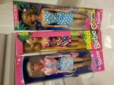 Tahiti Barbie Foreign Doll #2093, Chic Barbie, and Riviera Barbie