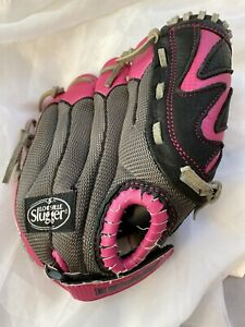 "RIGHT Louisville Slugger Baseball Glove DV14-HP YOUTH 10.5"" Black/Pink"