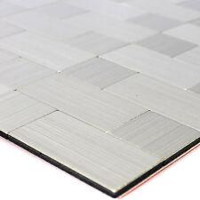 Selbstklebende Metall Edelstahl Mosaik Fliesen Silber Mix | Bad WC Bordüre