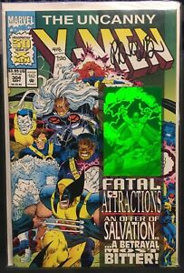 RARE! UNCANNY X-MEN #304 1993 NM Signed DAN PANOSIAN Dynamic Forces 4118/7500