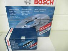 Bosch discos de freno y balatas mercedes clase c w203/s203 delantero + atrás