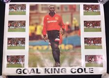 Andy Cole Signed Manchester United 1990's Poster