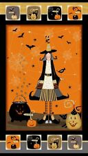 Cotton Quilt Fabric Witchy Studio E Panel Halloween 3700P-39 Quilting Sewing