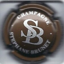 Capsule de champagne BRUNET STEPHANE N°5 MARRON ET ARGENT