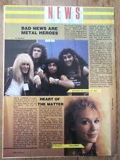 BAD NEWS (Rik Mayal) 'metal heroes' ARTICLE / clipping