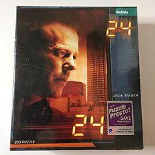 NEW 24 Jack Bauer  300 Pc Jigsaw Puzzle SEALED BGI Buffalo Games Bonus Poster