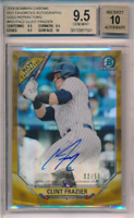 2018 Bowman Chrome ROY Gold Refractor /50 Clint Frazier RC BGS 9.5 10 Auto POP 3
