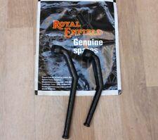 Royal Enfield Negro Reposapiés Delanteros Pinzas Soporte Kit Repuesto Original #