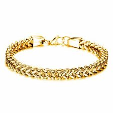 18K Gold GP Vintage Simple Classic Men's Bracelet Gold gb0614671