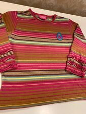 Oilily Girls Size 2T (86) Long Sleeve Pink Striped Shirt