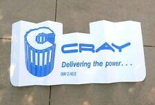 """Vtg CRAY Supercomputer Cray-2 Auto Sun Shade Sign Dash Visor 20"""" x 51"""" ~1985 NOS"""