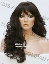 Long Wavy Layered Curly Chestnut Brown Full Wig Skin top WACA 6 Hair piece