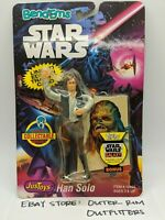 Vintage 1993 Star Wars Han Solo JusToys Bend-Ems New Sealed with Topps Card