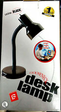 Retro 90ty's Lightning Bug Gooseneck Black Desk Lamp NOS  NIB