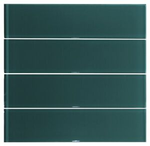 3x12 Forest Green Glass Subway For Wall Tile
