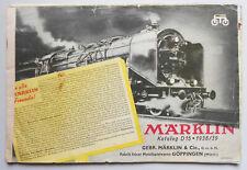 Märklin Katalog D15   1938/39  ! (K1