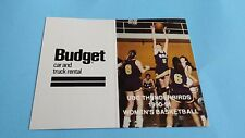 1990/91 CIAU/CIS/USPORTS WOMEN'S BASKETBALL UBC THUNDERBIRDS POCKET SCHEDULE