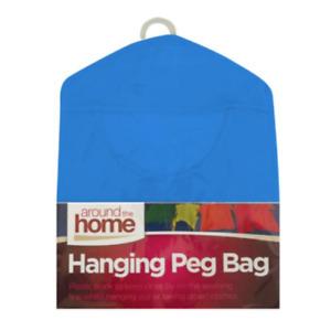 Peg Bag Brights Fabric Washing Line With Hanger Machine Washable 39cm x 29cm OTL