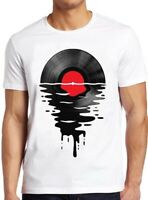 Melting Vinly T Shirt Dripping Cool Record DJ Music Vintage Gift Tee 84