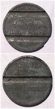 WWI Notgeld coin Germany - Deutsche Reichspost 23mm zinc phone token