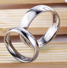 Lord Of The Rings Titanium Stainless Steel Ring Size Z+ Silver