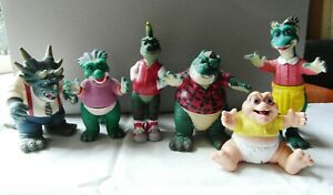 Collection of 6 Hasbro Jim Henson Disney Dinosaurs Action Figures 1990s