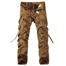 Men's Casual Cargo Pants Combat Camouflage Camo Army Military Hiking Trousers US