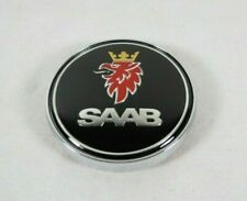 Saab 93 Sedan Emblem 03-07 Black Rear Trunk Badge round back sign symbol logo (Fits: Saab)