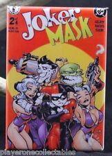 """Joker Mask #2 Comic Book Cover 2"""" X 3"""" Fridge Magnet. DC Harley Quinn"""