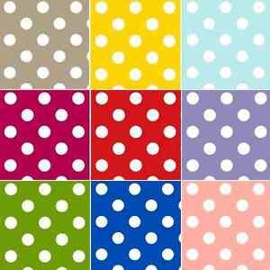 Tablecloth Vinyl PVC  Large Polka Dots Spots Pattern Oilcloth 140cm Wide Spotty