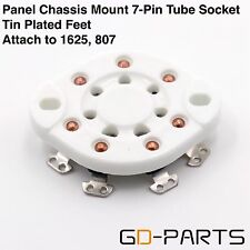2Pcs Vintage 7 Pin U7B Ceramic Tube Sockets for Fu-25 1625 826 832 Panel Chassis