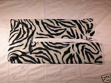 Zebra Skin Fleece Scarf Black and White Stripes SO CUTE