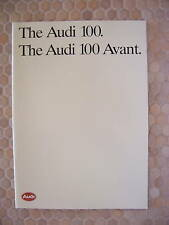 AUDI 100 & 100 AVANT PRESTIGE SALES BROCHURE 1987 USA EDITION