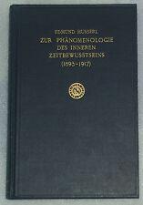 HUSSERL Husserliana vol 10 Phenomenology Time Consciousness Heidegger Sartre
