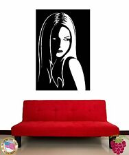 Wall Stickers Vinyl Decal Attractive Gorgeous Girl Female Black And White  z1192