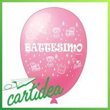 PALLONCINO BATTESIMO ROSA - confezione da 12 pz