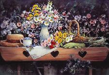 Paul Landry A GARDENER'S PRIDE art print Flowers