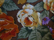 CLEARANCE: One  Metre (100 x 108 cms) of Roses Pattern Printed Velveteen