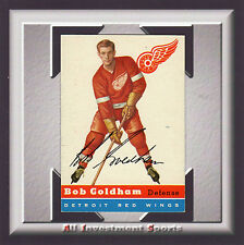 1954 Topps BOB GOLDHAM #46 VG-EX+ *gorgeous hockey card for your set* SD