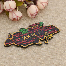 Vintage Jamaica's Map Sharped Fridge Magnet Magnet Sticker Home Decor Gift 3D