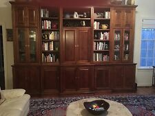 Unique, custon made, mahogany entertainment center, library and curio cabinet,