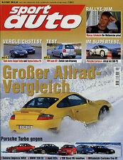 sport auto 2001 2/01 BMW M5 Impreza 2.0 WRX Carrera 4 330xi Audi RS4 911 GT2 Lup