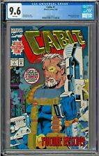 Cable #1 CGC 9.6 White Pages Embossed gold foil logo X-Force