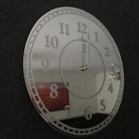 SILVER Glitter Modern Round Wall Clock 35cm NUMBERS GLITTER MIRROR WALL CLOCK